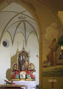 Interiér pútnického kostola