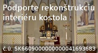 podporte rekonštrukciu interiéru kostola